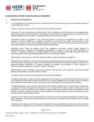 UOB Business Internet Banking Service Agreement - United ...