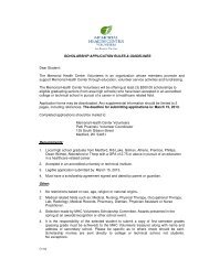 SCHOLARSHIP APPLICATION RULES & GUIDELINES Dear Student
