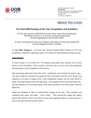 The 23rd UOB Painting of the Year Competition and Exhibition