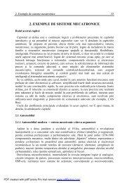 2. EXEMPLE DE SISTEME MECATRONICE