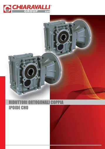 riduttori ortogonali coppia ipoide cho - Tecnica Industriale S.r.l.
