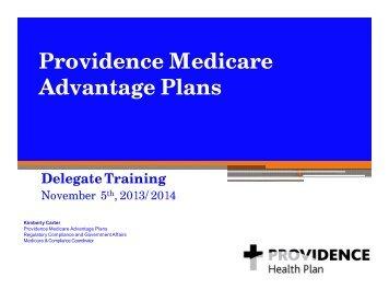 P id M di Providence Medicare Advantage Plans Delegate Training