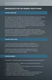 PeriOdOntiCS fOr the general PraCtitiOner - AGD - Academy of ...