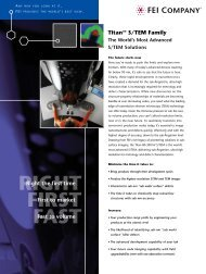Titan™ S/TEM Family Borchure for Semiconductor - FEI Company