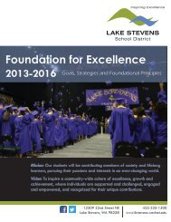 Lake Stevens School District Foundation for Excellence
