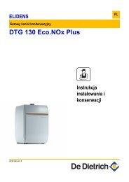 Instrukcja techniczna dla Elidens DTG 130 Eco.NOx Plus - De Dietrich