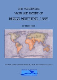 The Worldwide Value and Extent of Whale Watching 1995