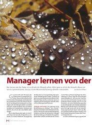 Manager lernen von der Natur - Internationales Bionik Zentrum