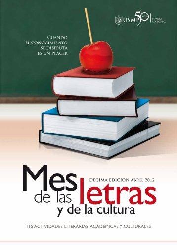 de las letras - Universidad de San Martín de Porres