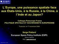 politique spatiale et souverainete europeenne - Admiroutes