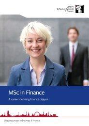MSc in Finance - Aranea