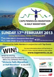 Download Cape Peninsula Marathon 2013 Entry Form - Top Events