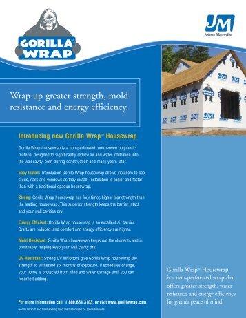 Gorilla Wrap Data Sheet - Green Depot
