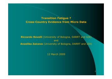 Transition Fatigue ? Cross-Country Evidence from Micro Data