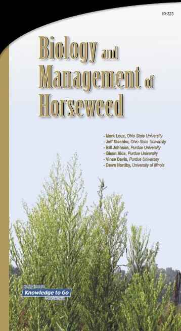 Biology and Management of Horseweed - Purdue University Botany ...