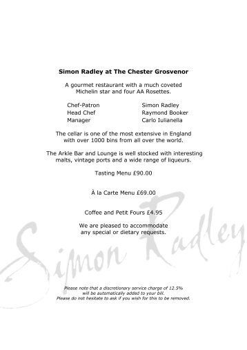 Simon Radley at The Chester Grosvenor