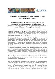 CON ÉXITO CONCLUYÓ LA DEMOCRATIZACIÓN DE ISAGEN