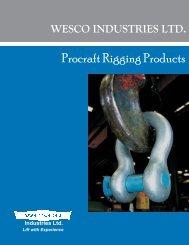 Procraft Rigging Products - Wesco Industries Ltd.