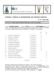 Nomina componenti della Commissione Locale ... - Comune di Futani