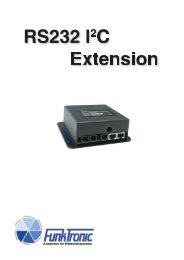 Rs232-I2c-Extension - Funktronic