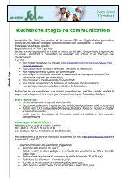 Recherche stagiaire communication - Loire Solidaires