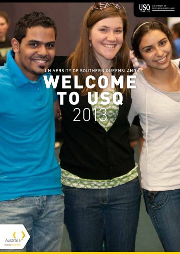 WELCOME TO USQ 2013