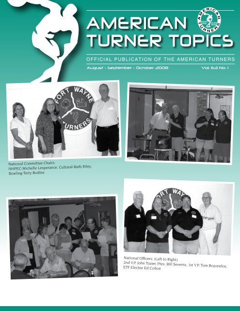 August - September - October 2008 Vol. 63 No. 1 - American Turners