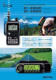 IC-E80D/ID-E880 - Icom