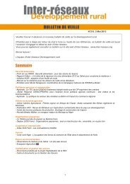 Bulletin de veille n°215 - 2 mai 2013 - Inter-réseaux