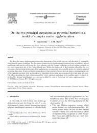 On the two principal curvatures as potential barriers in a model of ...