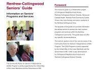 Renfrew-Collingwood Seniors' Guide 2011 (English)