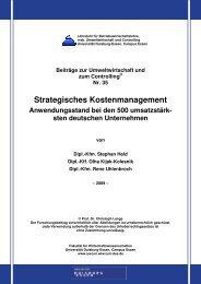 Strategisches Kostenmanagement - Lehrstuhl für Betriebswirtschaft ...