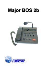 Bedienelemente Major BOS 2b - Funktronic