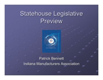 Statehouse Legislative Preview - Indiana Air & Waste Management ...