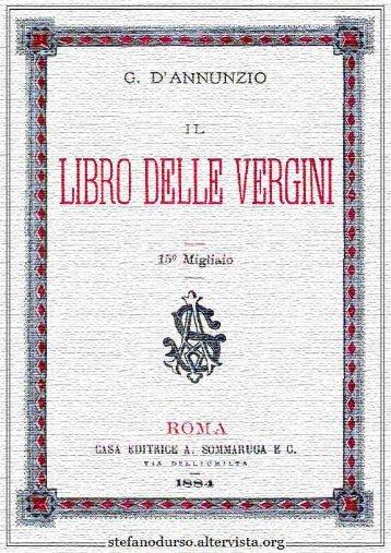 """""""Il libro delle vergini"""" di Gabriele D'Annunzio - Altervista"""