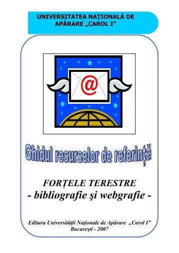 """catalog adrese web - Universitatea Naţională de Apărare """"Carol I"""""""