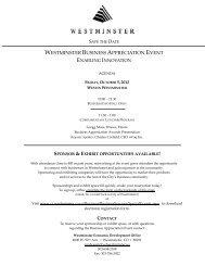 WESTMINSTER BUSINESS APPRECIATION EVENT - City of ...