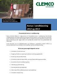Kursus i sandblæsning 2012 og 2013 - Clemco Danmark