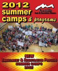 2012 Summer Camps Programs - Foothills Park & Recreation