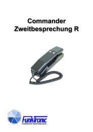 Bedienelemente Commander Zweitbesprechung R - Funktronic