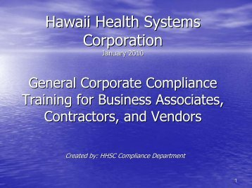 Training for HHSC Business, Vendors, and Contractors-Part 1