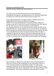 Generalversammlung 2013 - Schweizerischer Rottweiler Hunde Club
