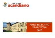 Piano Esecutivo di Gestione 2012 - Comune di Scandiano