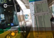 AnnuAl RepoRt 2009-10 - Public Transport Authority - The Western ...