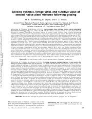 Species dynamic, forage yield, and nutritive value of seeded native ...