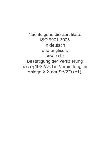 Nachfolgend die Zertifikate ISO 9001:2008 in deutsch ... - Funktronic