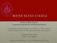 Language Group Specific Informational Report: Bassa - RITELL
