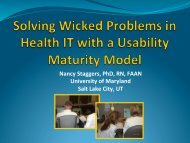 Solving Wicked Problems in HIT With a Usability Maturity Model