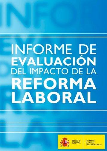 Informe Impacto de la Reforma Laboral - Ministerio de Empleo y ...