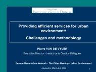 Providing efficient services for urban environment ... - Euromedina